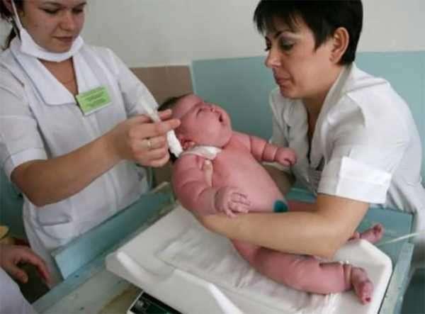 Самый большой новорожденный ребенок в мире